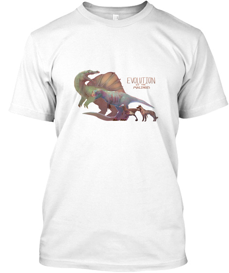 Evolution Of The Malinois White T-Shirt Front