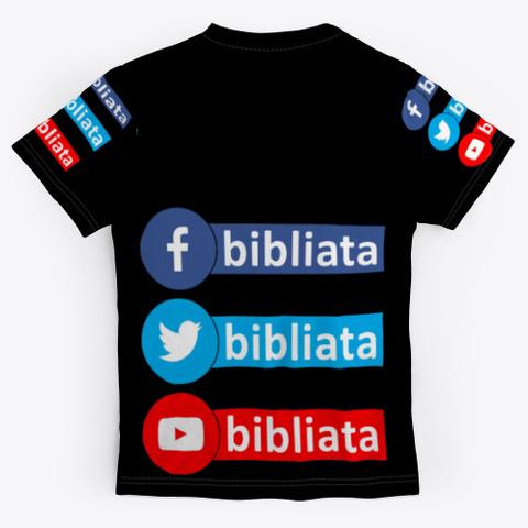 Bibliata Net Black T-Shirt Back