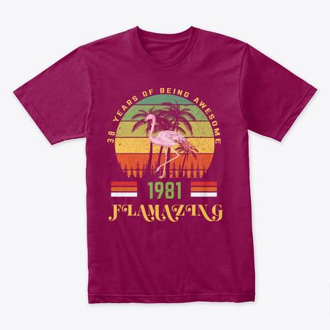 Gift For Girl 38 Birthday Flamingo Shirt Cardinal T-Shirt Front