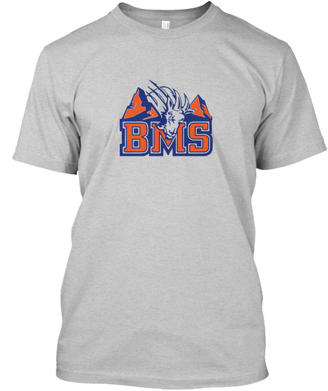 Bms  Light Steel T-Shirt Front