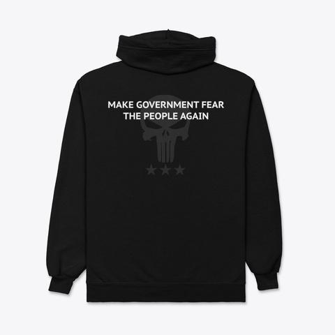 Make Govt Fear The People Again   Pnshr Black T-Shirt Back
