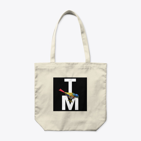 Twittering Machines Logo Tote Natural T-Shirt Front