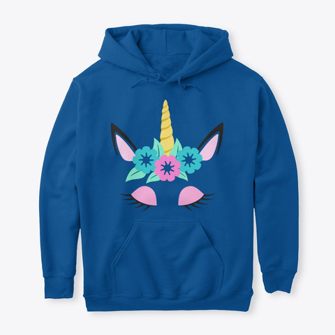 Cute Birthday Gifts  For  Unicorn  Lover Royal T-Shirt Front