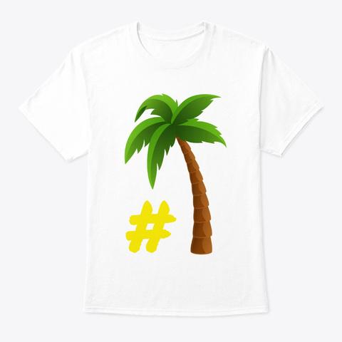 #Team Palmier White T-Shirt Front