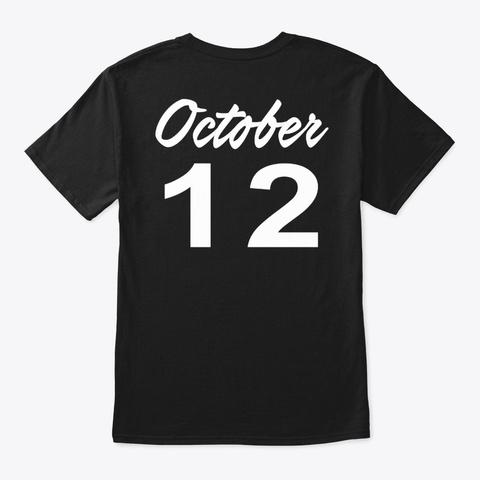 October 12   Libra Black T-Shirt Back