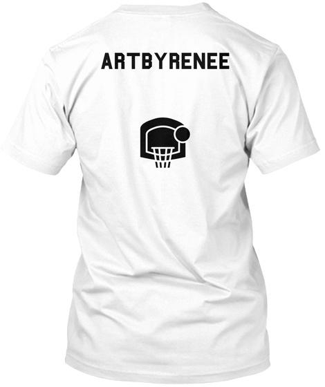 Artbyrenee White T-Shirt Back
