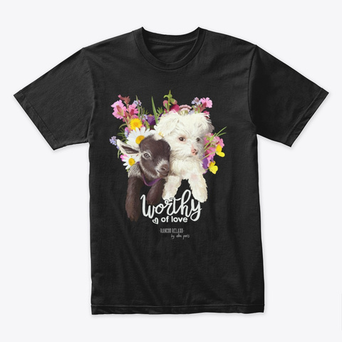 Rancho Relaxo Fundraiser By Alba Paris Black T-Shirt Front