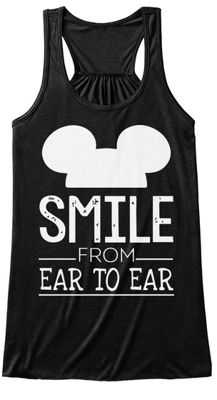 Smile From Ear To Ear Black Camiseta Front