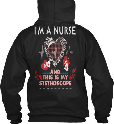 Nurse   Nursing   Rn   Cna   Lpn #678 Black T-Shirt Back