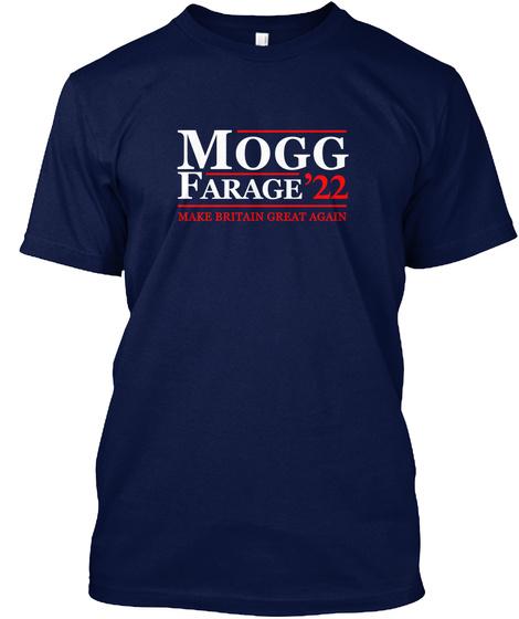 Mogg Farage '22 Make Britain Great Again Navy T-Shirt Front