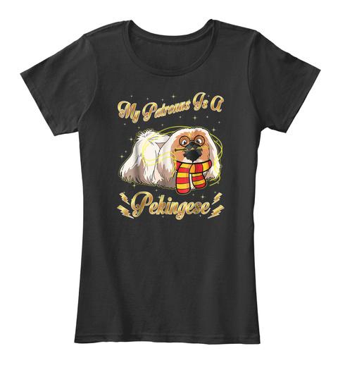 My Patronus Is A Pekingese Shirt Black T-Shirt Front