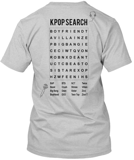 8855ab17ab2 K Pop Word Search - kpop search Products from KPOP T-shirts ...