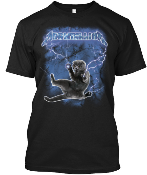 Meowthhica Black T-Shirt Front