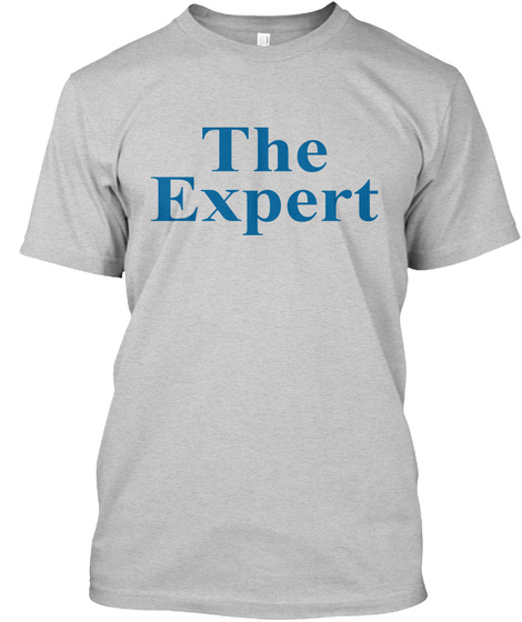 The Expert Light Steel T-Shirt Front