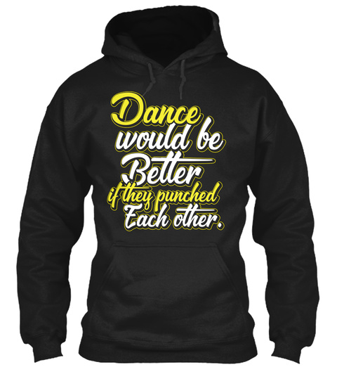 Lovers Of Dancing Gifts Black T-Shirt Front