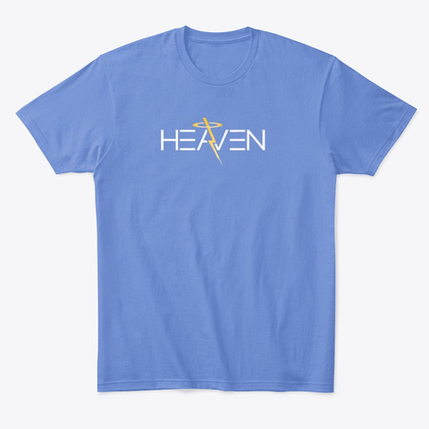 Heaven Heathered Royal  T-Shirt Front