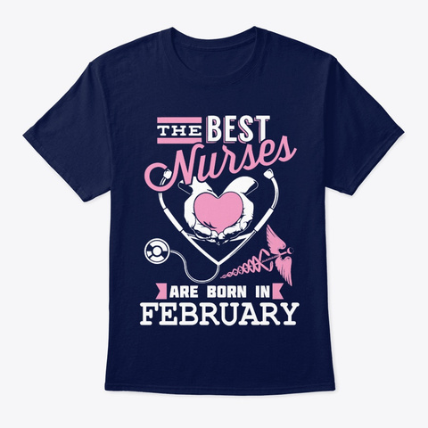 Nurse The Best Nurses Navy T-Shirt Front