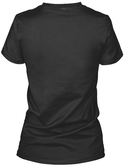 Proudly One Of Those Hippie People! Black T-Shirt Back