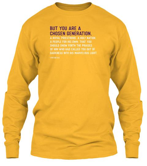 Chosen Generation : Scripture Gold T-Shirt Front
