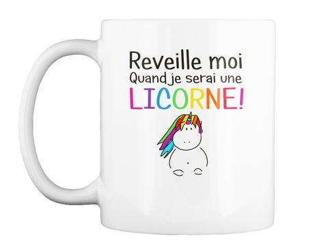 Mug   Réveille Moi White T-Shirt Front