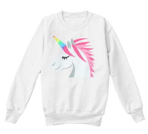 Unicorn White  T-Shirt Front