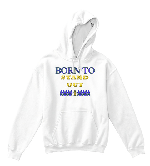 Armada Born To Stand Out Boys  Arctic White T-Shirt Front