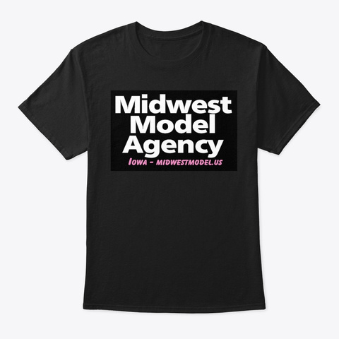 Midwest Model Agency Apparel Black T-Shirt Front