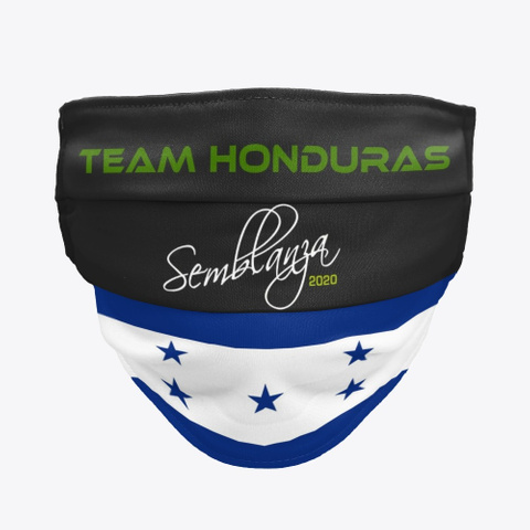 Team Honduras! Black T-Shirt Front