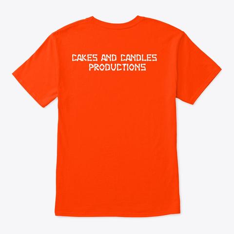Seasons Greetings Orange T-Shirt Back