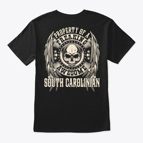 Awesome South Carolinian Shirt Black T-Shirt Back