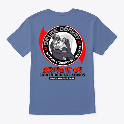 2019 Hurricane Season Denim Blue T-Shirt Back
