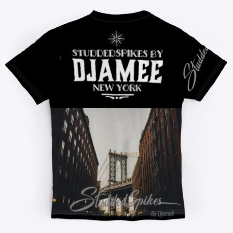 Djamee New York Style Black T-Shirt Back