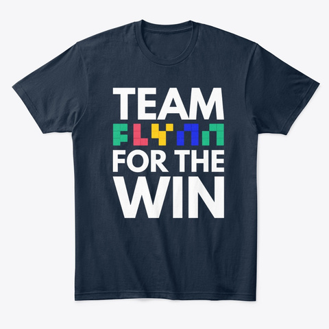 For The Win! New Navy T-Shirt Front