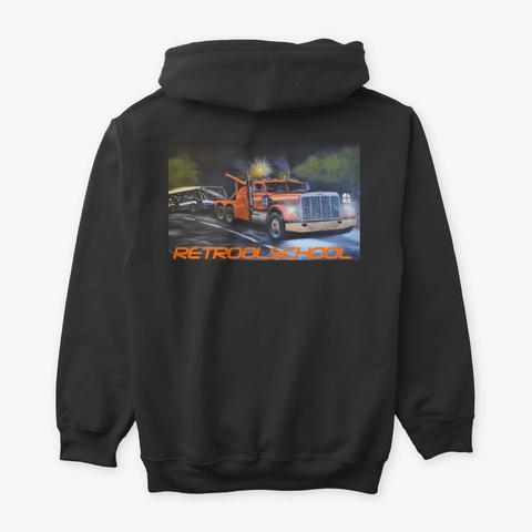 Retroolschool Elton Mc Fall Tow Truck Art Black T-Shirt Back
