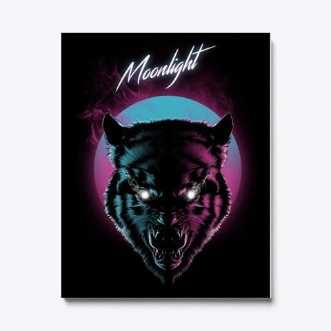 Wolf Canvas | Wolf Moonlight Standard T-Shirt Front