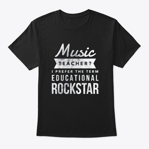 Funny Music Teacher T Shirt Appreciation Black T-Shirt Front