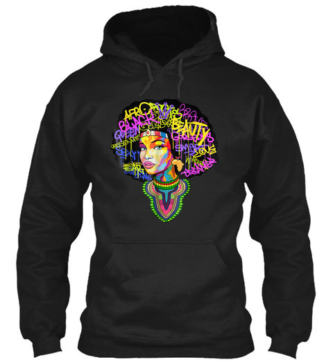 Dashiki Melanin Afro Woman T Shirt 3 O5sz Black T-Shirt Front
