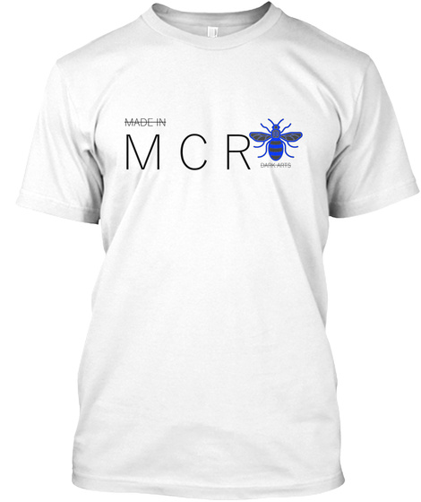 Made In Manchester (White T Shirt) White T-Shirt Front