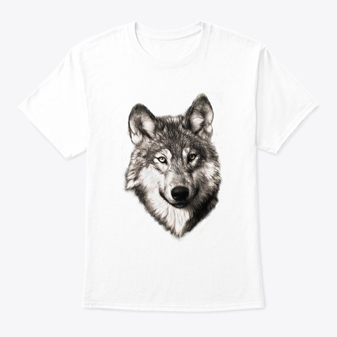 The Wolf White T-Shirt Front