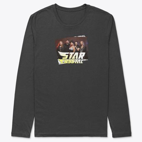 Star Crystal In Black Black T-Shirt Front