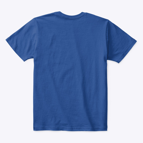 Ufo De Alien Deep Royal  T-Shirt Back