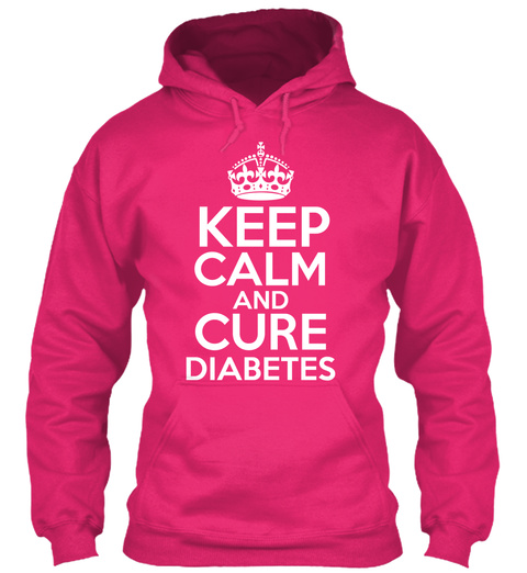Keep Calm And Cure Diabetes Heliconia T-Shirt Front