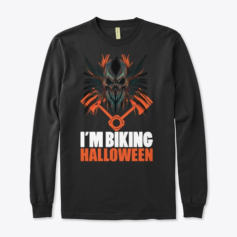 Biker Halloween Costume Black T-Shirt Front