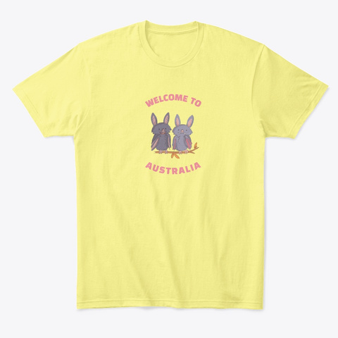 Welcome To Australia Lemon Yellow  T-Shirt Front