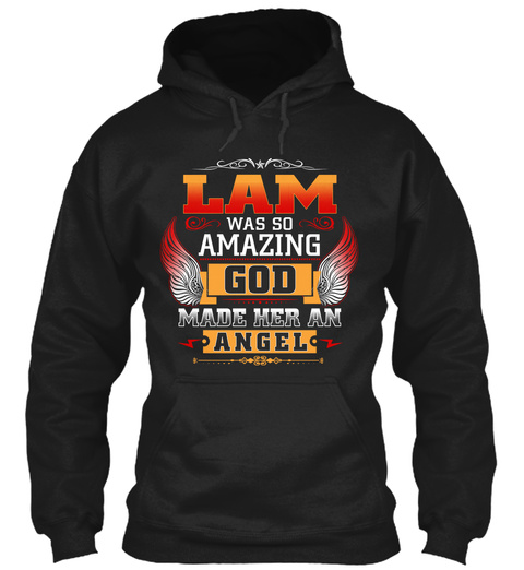 Lam Angel  Black T-Shirt Front