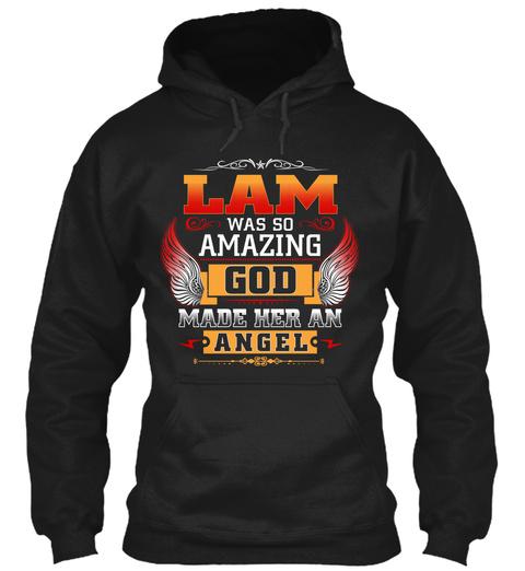 Lam Angel  Black T-Shirt Front