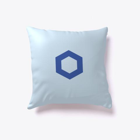 Chainlink Link   Pillow Pale Blue T-Shirt Back