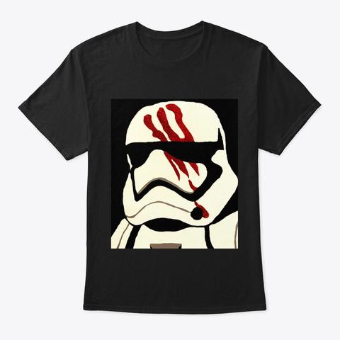 Trooper Simple Portrait Black Camiseta Front