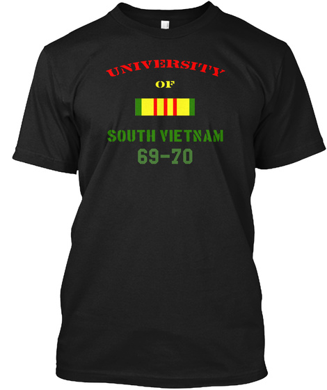 University Of South Vietnam 69 70 Black T-Shirt Front