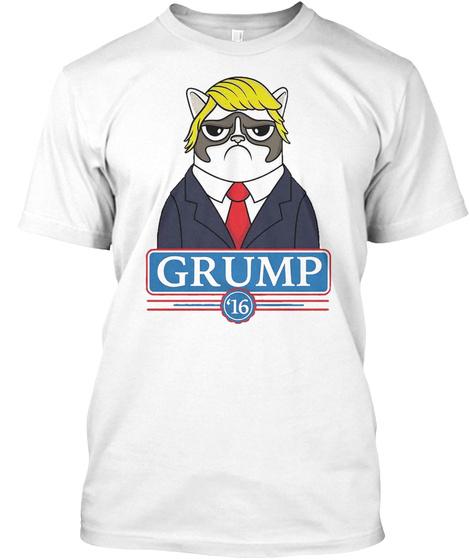 Grump '16 White T-Shirt Front